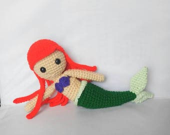 Amigurumi Ariel Little Mermaid Crochet Doll