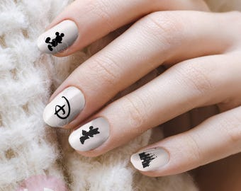 Nail design logo etsy mickey silhoutte nail decal nail design nails press on nail decal nail prinsesfo Images