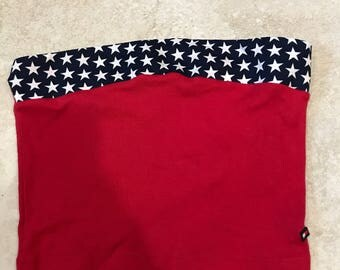 Vintage 90's Tommy Jeans Red Star Cropped Tube Top Bandeau XS/S Tommy Hilfiger streetwear