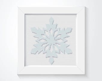 Snowflake Cross Stitch Pattern PDF, Holiday Cross Stitch, Winter Cross Stitch, Art Cross Stitch, Christmas Series, Embroidery Chart (TAS139)