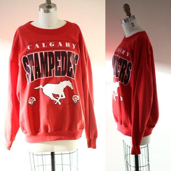 1990s Calgary Stampeders sweatshirt // 1993 Calgary sweatshirt // vintage sweater