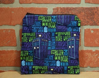 One Sandwich Bag, Reusable Lunch Bags, Waste-Free Lunch, Machine Washable, Doctor Who, Sandwich Sacks, item #SS89