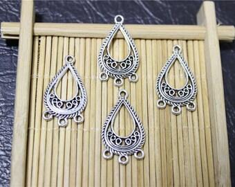 20 connectors attached antique silver chandelier pendant drop