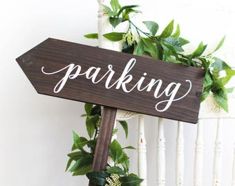 Parking Directional Sign-Arrow Pointing Left | Close Out Sale