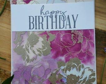 Birthday Card Floral