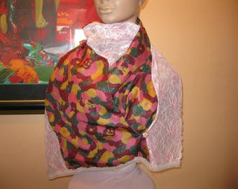 """scarf/scarf for women - lace and silk - model """"rosaria"""""""