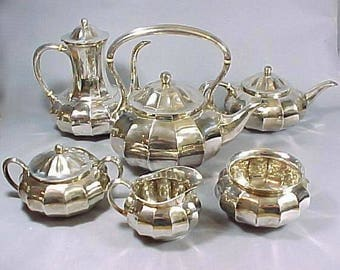 Tiffany Silver Tea Service - Set 6 - Genuine Antique Tiffany Serving Set - Fine Dining - Wedding Gift - Bridal Silver - Antique Dinnerware