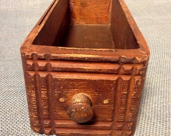 Old Empty Drawer From a Treadle Sewing Machine - Long with Wood Knob - Left Side