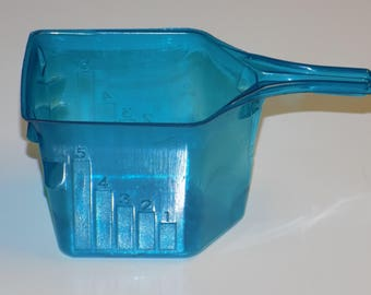Set of 10 Upcycled Blue Plastic Laundry Scoops