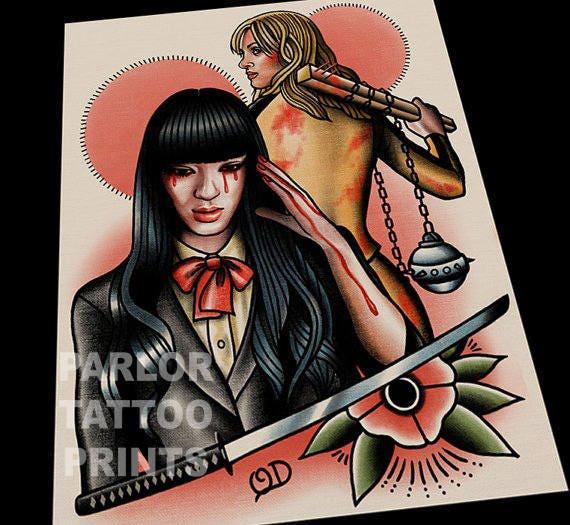 Tattoo Designs Johnny: Kill Bill Tattoo Flash