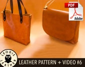 Build Along Leather Pattern 6: Turned Messenger and Tote Bags