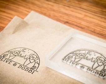 Custom Fabric Stamp - 5 x 7 inches