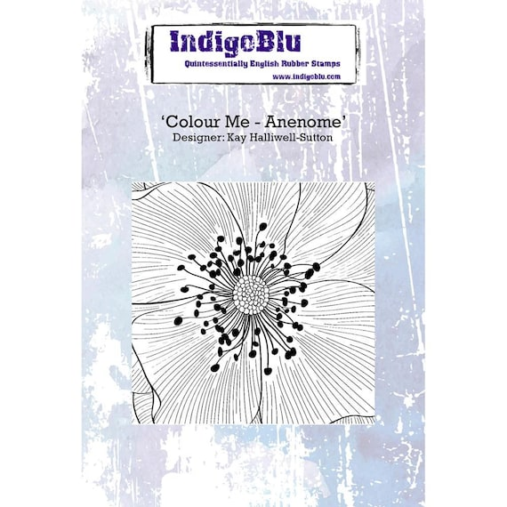 Color me Anenome stamp unmounted stamp by indigo blu perfect for textures, or stamping and coloring or one color stamp so many ways to use