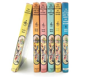The Happy Hollisters | 6 Volume Set • Jerry West • instant collection • 1950's hardcover children's books