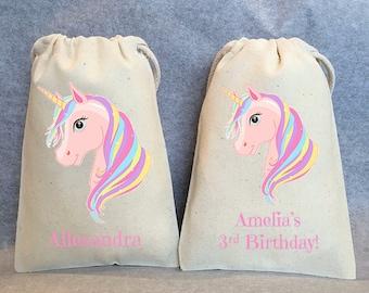 "8- Unicorn Party, Unicorn Birthday, unicorn party favors, Unicorn bags, Unicorn favor bags, Unicorn party favor bags, Unicorn bag, 4""x6"""