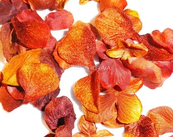 10 x orange silk petals.