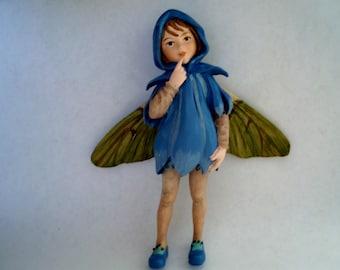 Scilla Fairy - Flower Fairy - Fairy Garden - Terrarium - Miniature Gardening - Accessories - Cicely Mary Barker Fairy