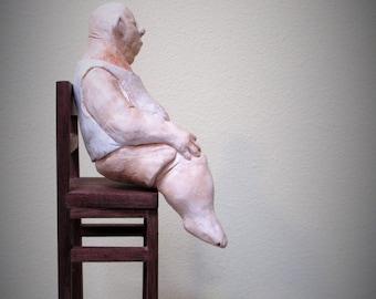 Vincent: A one of a kind handmade Porcelain Sculpture