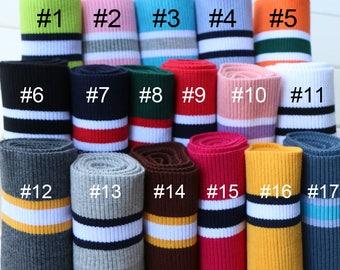 Elastic Rib Knit Cuff Waistband Fabric Trim Sold by 80cm SH312