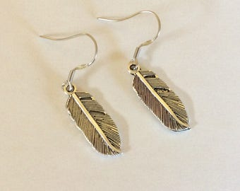 Feather  Earrings Western Cowgirl Jewelry Feather Earrings Boho Southwestern Jewelry hypoallergenic wires
