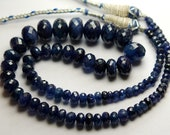 16 Inches Strand,Thai BLUE SAPPHIRE Faceted Rondelled,4-7mm