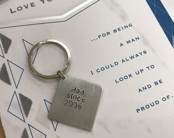 Personalized Father's Day keychain