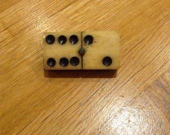 Vintage domino badge