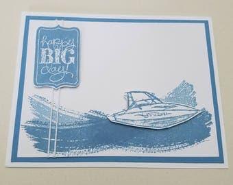Speed Boat - Happy Big Day, blank inside