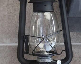 FLAT BLACK Kerosene Hurricane Lantern Oil Lamp