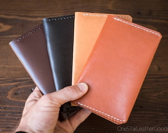 "Leather notebook cover for Field Notes and other 3.5x5.5"" pocket notebooks"