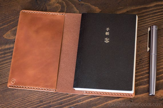 Hobonichi Techo A6 planner cover - chestnut harness leather