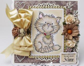handmade, OOAK Birthday Card To My Dear Mum C0014