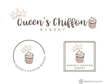 Cupcake Logo Bakery Logo Branding Kit Cake Logo Baking Logo Premade Logo Watermark Logo Business Logo Branding Logo digital logo Logos