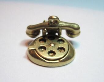 Gold 'I Love You' Telephone Charm