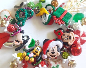 Mickey Mouse Christmas bracelet/Disney/Beadiebracelet