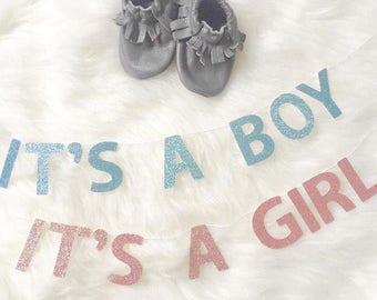 Bassinet Banners | It's a Boy | It's a Girl | Pregnancy Announcement | Newborn Announcement | Baby Shower | Gender Reveal |Baby Announcement