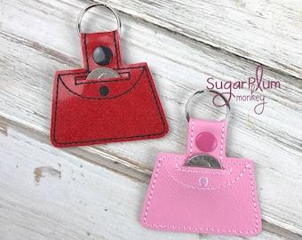 Purse cart quarter keeper holder keychain
