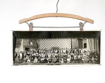 Vintage Panoramic Photo - Vintage Photography Decor - Old Photograph - Vintage Photo Decor - Vintage Group Photo - Montclair Operetta Club