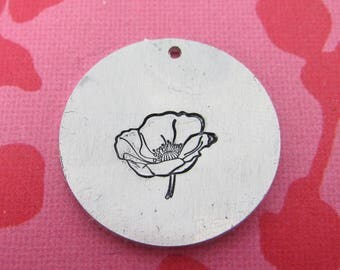 Mr Poppy Metal Design Stamp - 10mm | Metal Stamping Poppy Stamp | Remembrance | Metal Design Stamp