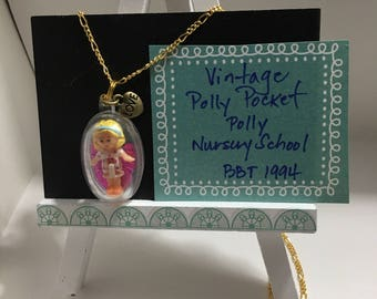 Vintage Polly Pocket Doll Necklace