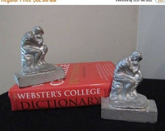 ON SALE 30u0027s 40u0027s Bookends / Philosophy / The Thinker Bookends / Vintage  Home Decor /