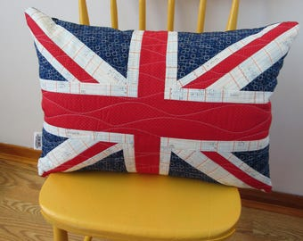 Union Jack Quilt Pillow Flag