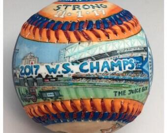 Houston Astros 2017 World Series Baseball,  Minute maid Park, Astros gift, Astros Fan, World Series 2017  (GM25)