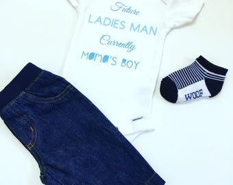 Ladies Man Tee Shirts, Ladies Man Bodysuit, Future Ladies Man Current Mamas Boy Tee Shirts, Mama's Boy Shirts, Future Ladies Man Tee Shirts