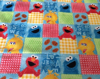 Sesame street fabric etsy for Monster themed fabric