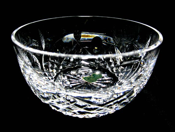 Waterford Crystal Sugar Bowl, Finger Bowl, Etched Waterford, Small Bowl or Dish, Made in Ireland