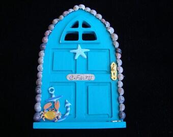Fairy Door Free Standing Blue