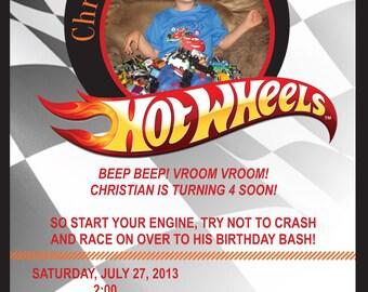 Hot wheels birthday invitations Etsy