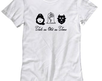 Beauty and the Beast Tale Old as Time Shirts for Women Gift Belle Shirt
