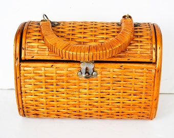 straw bag Wicker bag, wooden bag, straw bag